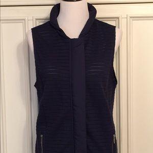 Chico's Zenergy Navy Zippier Vest